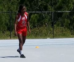 Za'Nidja Aikens at Track State Competition