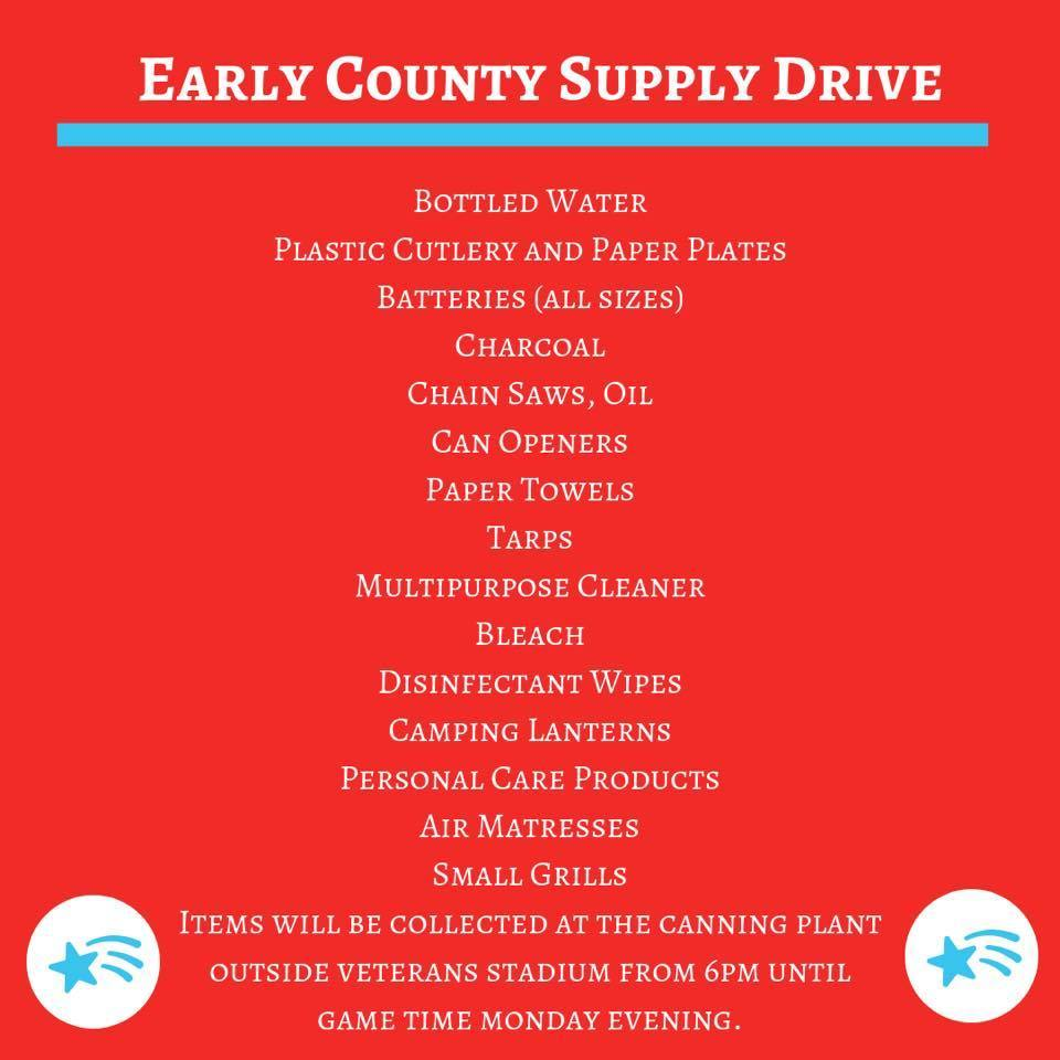 Early County Supply Drive