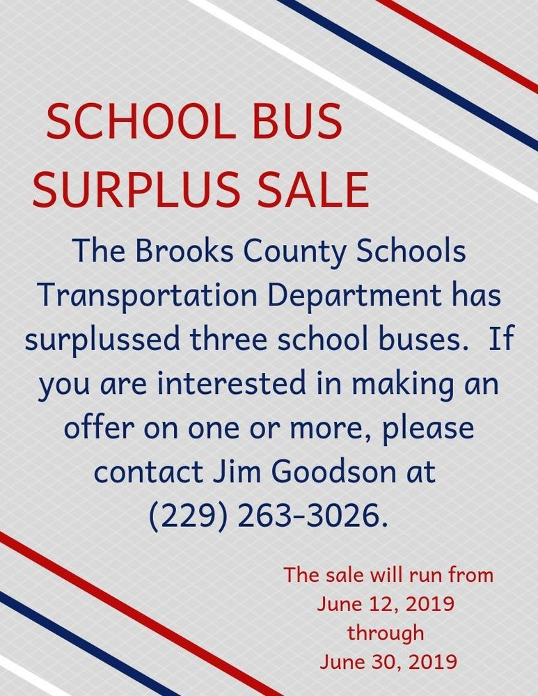 School Bus Surplus Sale