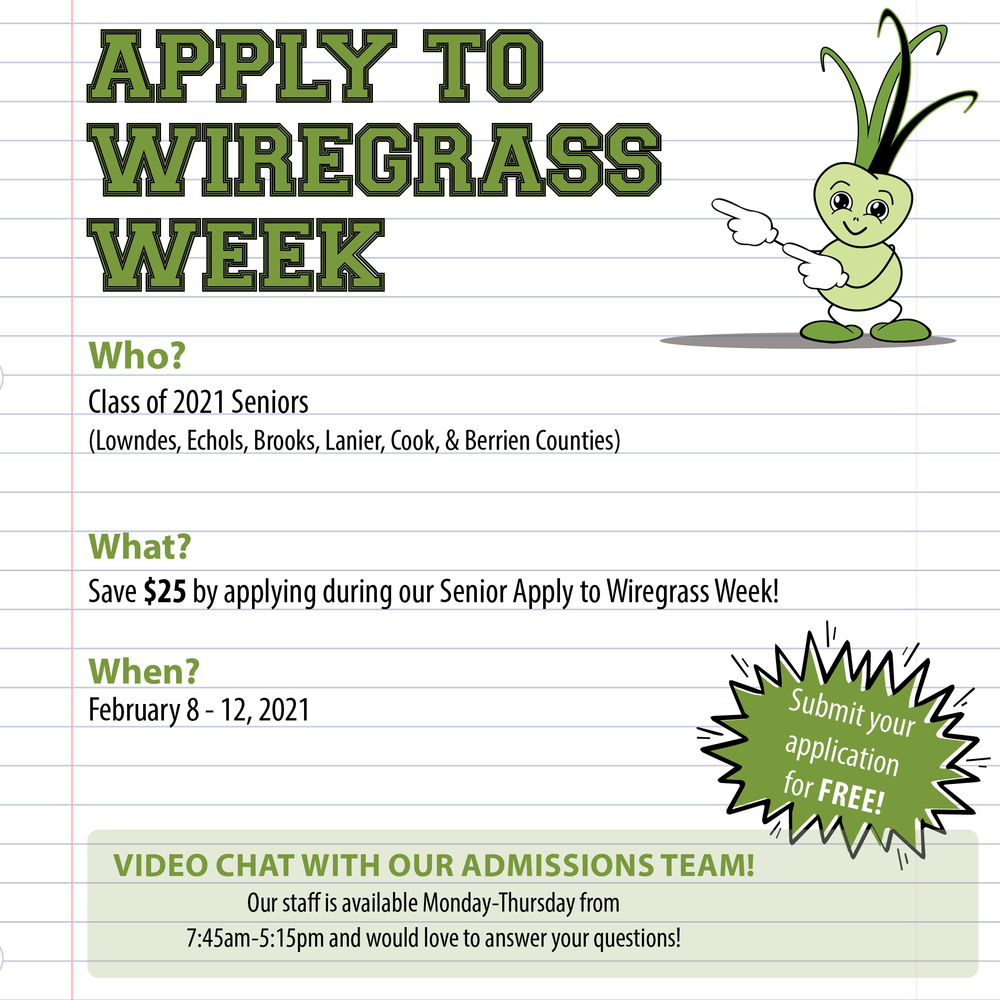 Apply to Wiregrass Week