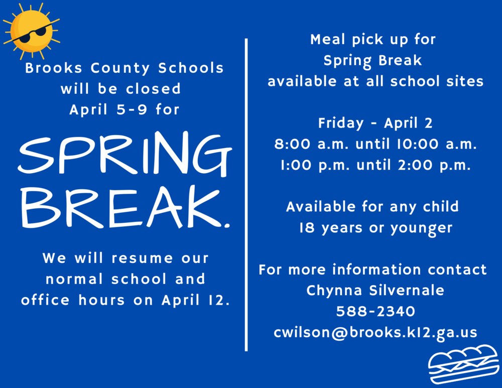 Spring Break and Meal Service Information