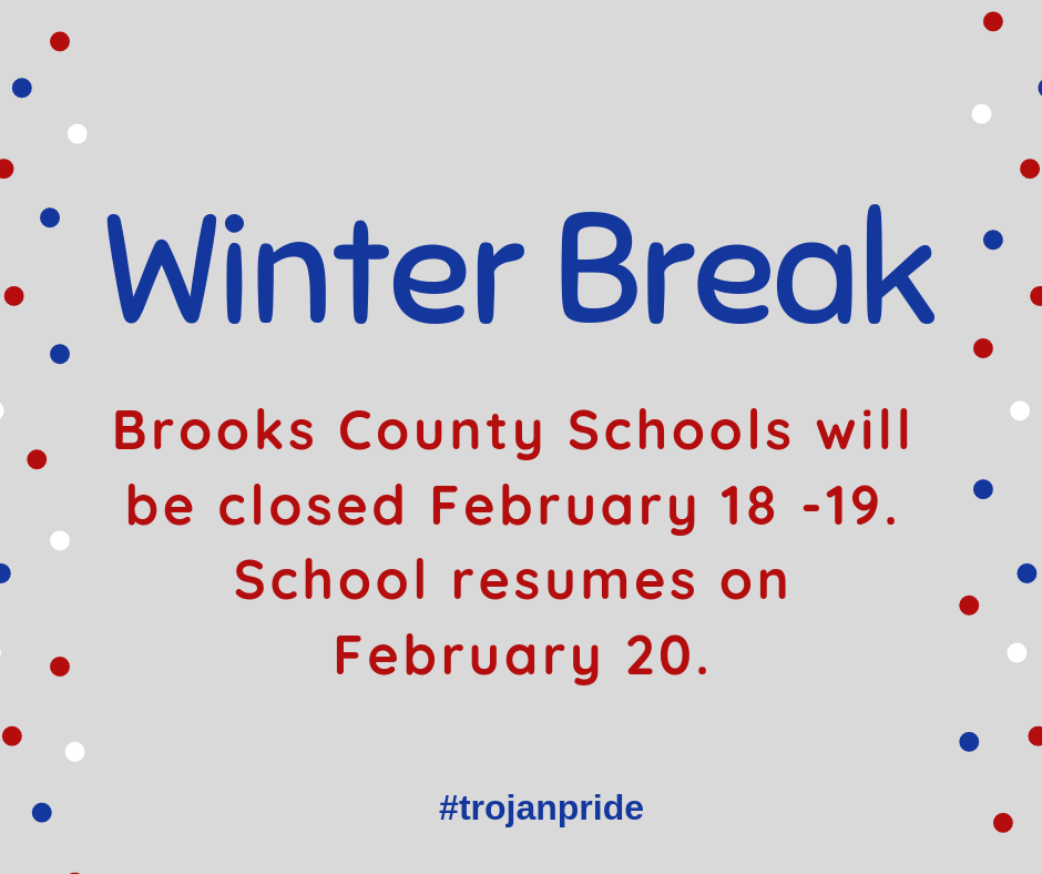 Winter Break Announcment
