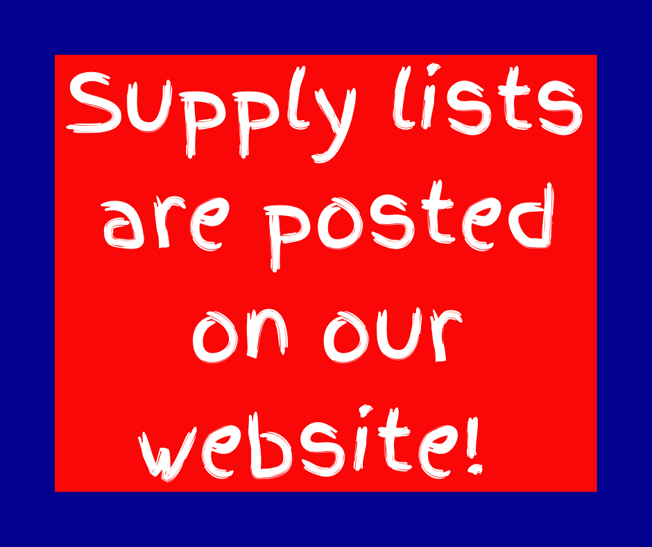 Supply Lists Are Ready!