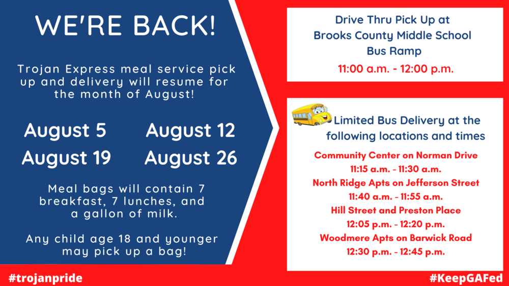 Summer Meal Service Is Back!