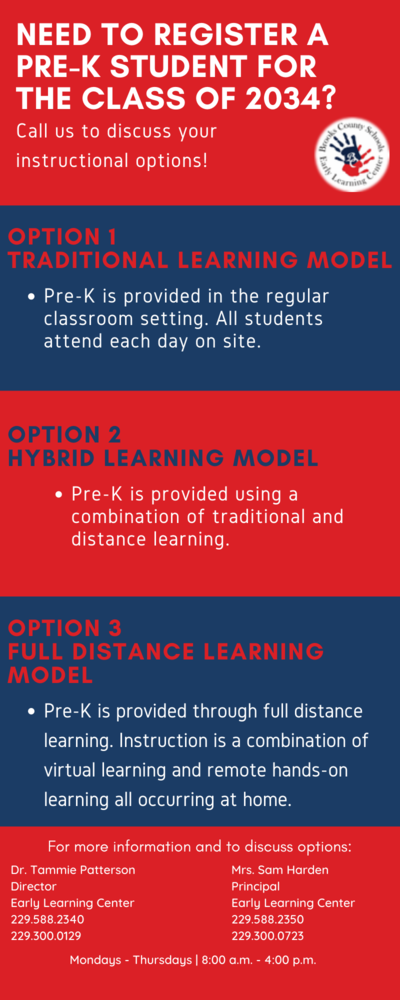 PreK Learning Options