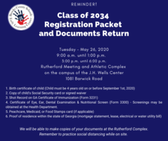 Class of 2034 Packet Return Reminder