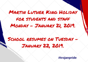 MLK Holiday Announcement