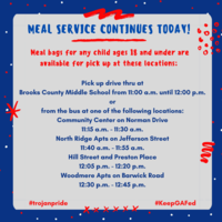 Today's Meal Service Information