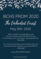 Prom Rescheduled for May 16th