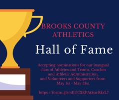 Brooks County Athletics Hall of Fame-Click the link to see how to nominate someone!