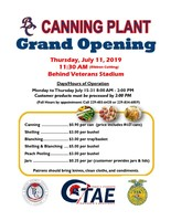 Canning Plant Grand Opening