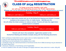 Registration Process for the Class of 2034
