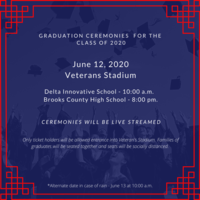 Graduation Ceremonies for the Class of 2020