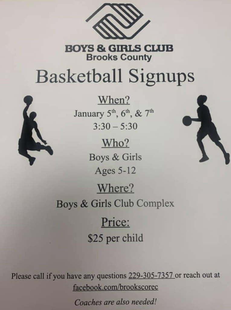 Boys & Girls Club Basketball Signups