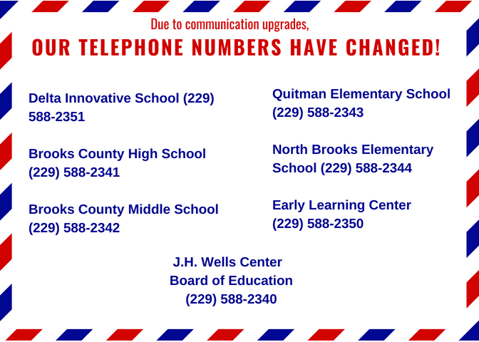 Due to telephone upgrades, our telephone numbers have changed!