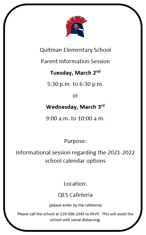 Parent Calendar Information Meeting