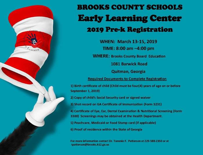 PreK Registration Information