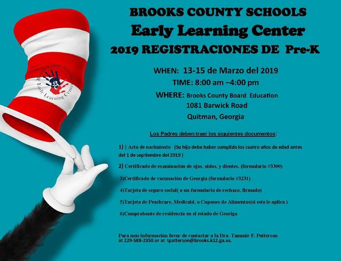 PreK Registration March 13-15