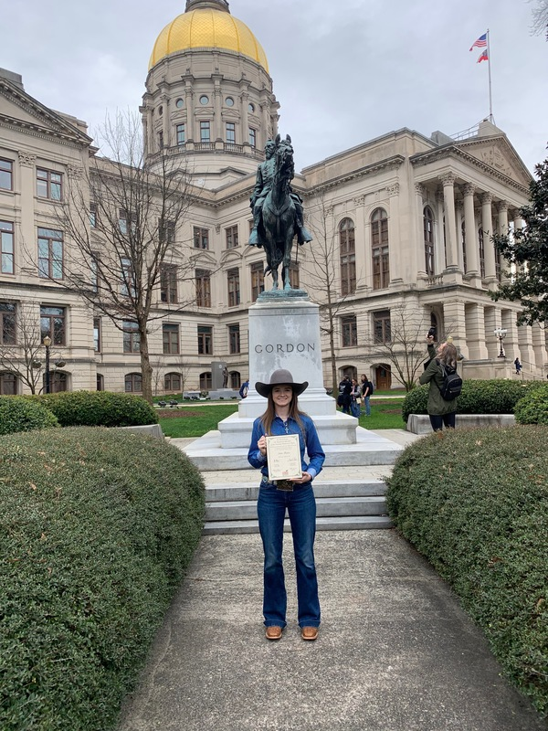 Brooks County High School FFA Student is honored at State Capital