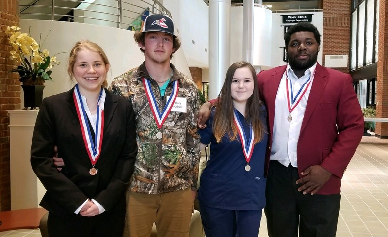 Brooks County High School Skills USA Students place at Region and Advance to State